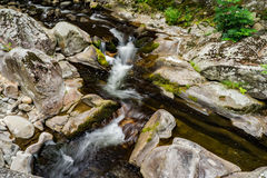 Waterfall on a Mountain Stream. Located in the Blue Ridge Mountains of Virginia, USA Stock Photo