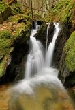 Waterfall on mountain stream Royalty Free Stock Photography