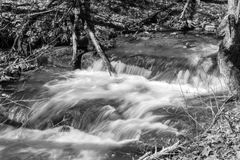 Waterfall in a Mountain Stream in Virginia Stock Images