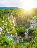 Waterfall in mountain Royalty Free Stock Images