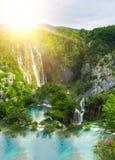 Waterfall in mountain Stock Image