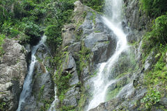 Waterfall and mountain, Thailand royalty free stock image