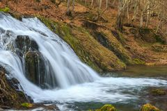 Waterfall in the mountains of Bulgaria Royalty Free Stock Image