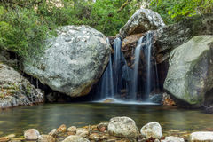 Waterfall on the mountains in Corsica - 8 Royalty Free Stock Images