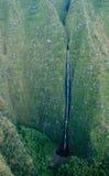 Waterfall in the mountains of Kauai Stock Photo