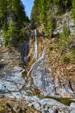 Waterfall in the mountains Royalty Free Stock Photos