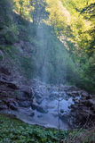 Waterfall in mountains Royalty Free Stock Photos