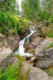 Waterfall in mountains. Stock Images