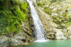 Waterfall in the mountains of the North Caucasus Royalty Free Stock Images