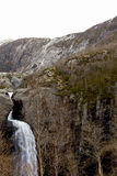 Waterfall in mountains of norway Stock Photography