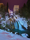 Waterfall in Mountains ski resort Bad Gastein Austria Stock Photo
