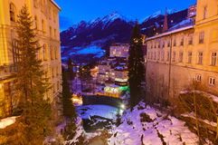 Waterfall in Mountains ski resort Bad Gastein Austria Royalty Free Stock Images