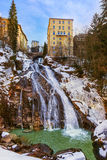 Waterfall in Mountains ski resort Bad Gastein Austria Royalty Free Stock Photo