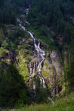 Waterfall in the mountains in summer Stock Images