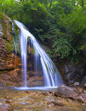 Waterfall. In mountains in summer time Royalty Free Stock Photo