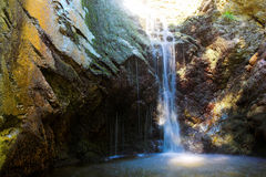 Waterfall in mountains of troodos,  Cyprus. Big waterfall in mountains of troodos,  Cyprus Royalty Free Stock Photography
