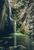 waterfall in mountains of troodos, Cyprus Royalty Free Stock Images