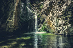 Waterfall in mountains of troodos, Cyprus Stock Image