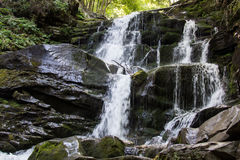 Waterfall in the mountains. Royalty Free Stock Photography
