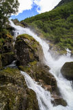Waterfall in the mountains Royalty Free Stock Images