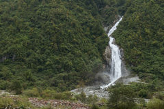 Waterfall moutain landscape Stock Photos