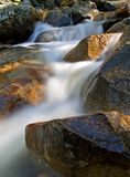 Waterfall movement on the rocks Royalty Free Stock Photography