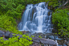 A Waterfall At Mt Rainer stock photography