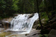 Waterfall. Mumlava waterfall in Krkonoše mountains, Czech Republic - unprocessed photo. An exclusive photo for using in newspapers, website etc. 7th July 2015 Stock Images