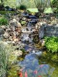 Waterfall in my backyard stock photos