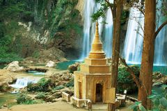 Waterfall in Myanmar Royalty Free Stock Images