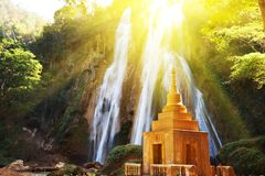 Waterfall in Myanmar Royalty Free Stock Photo