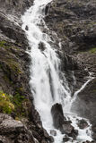 Waterfall named Stigfossen, close by the famous Trollstigen Road Stock Photos