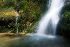 Waterfall in the Narrow pass of The Beyos Stock Image