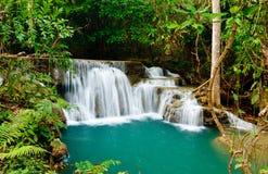 Waterfall in National Park. Kanchanaburi Province , Thailand stock photos