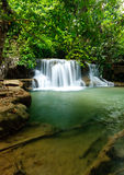 Waterfall in National Park. Kanchanaburi Province , Thailand Stock Photography