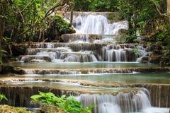 Waterfall in National Park. Kanchanaburi Province , Thailand royalty free stock photos