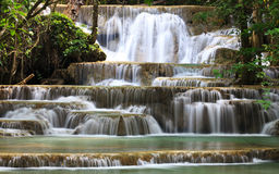 Waterfall in National Park. Kanchanaburi Province , Thailand Royalty Free Stock Photography