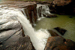 Waterfall in National park. Stock Photos