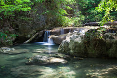 Waterfall in the national park Stock Images