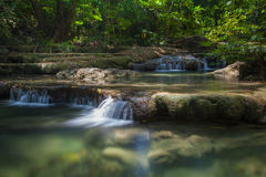 Waterfall in the national park.  Royalty Free Stock Photos