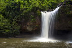 Waterfall of the national park. Waterfall at Hhao-yai national park in Thailand, Most hit of travel Royalty Free Stock Photography