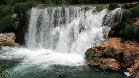 Waterfall in national park Krka, Croatia stock footage