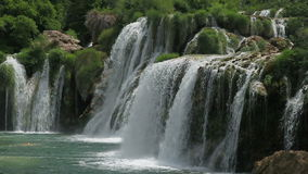 Waterfall in national park Krka, Croatia stock video footage