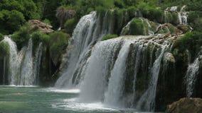 Waterfall in national park Krka, Croatia. Skradinski Buk, waterfall in national park Krka, Croatia stock video footage