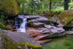 Waterfall in National Park of Peneda Geres stock photography
