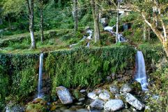 Waterfall in National Park of Peneda Geres stock image