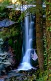 Waterfall in National Park of Peneda Geres. Portugal royalty free stock photography