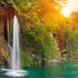Waterfall in national park. Plitvice Stock Photos
