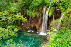 Waterfall in national park. Plitvice Royalty Free Stock Image