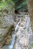 Waterfall in National park Slovak Paradise, Slovakia. Waterfall in National park Slovak Paradise in Slovakia royalty free stock photo